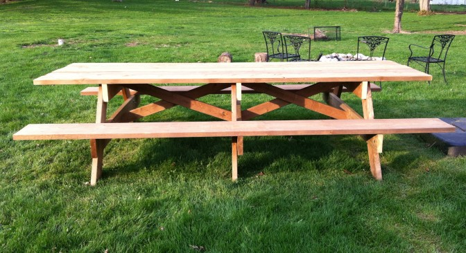 How To Build The Mother Of All Picnic Tables
